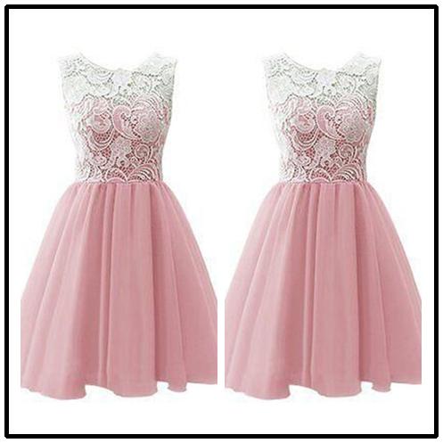 44afd2b9b3f Pink Homecoming Dress Lace Homecoming Gowns Pink Sweet 16 Dress Homecoming  Dress  H003