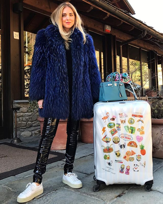 Instagram media by chiaraferragni - Welcome to the mountains with our exclusive @mysamsonite x @theblondesalad suitcase, available at the link in bio  #LiveTBS #ShopTheBlondeSalad