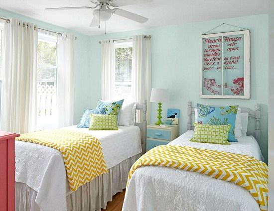 Colorful Beach Cottage Remodel from HGTV Magazine   Beach cottages ...