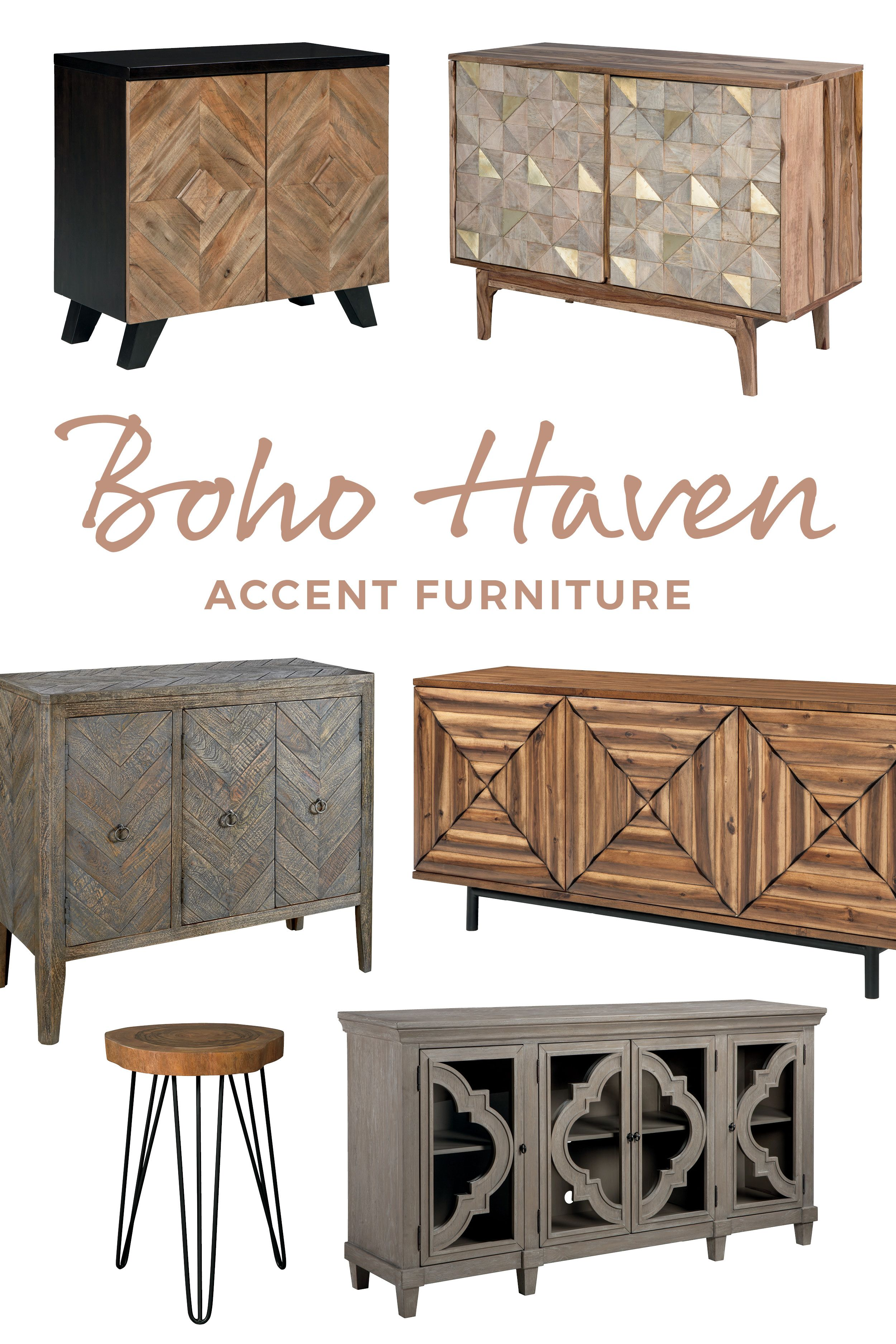 Accent Your Space With These Boho Inspired Consoles Cabinets And