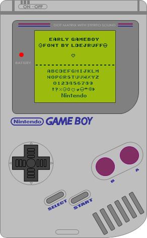 Early Gameboy Font Dafont Com Gameboy Old Nintendo Fonts