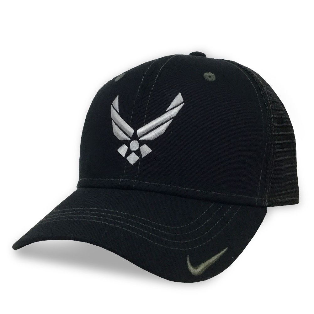 1d41712657c Air force wings nike mesh hat (black)