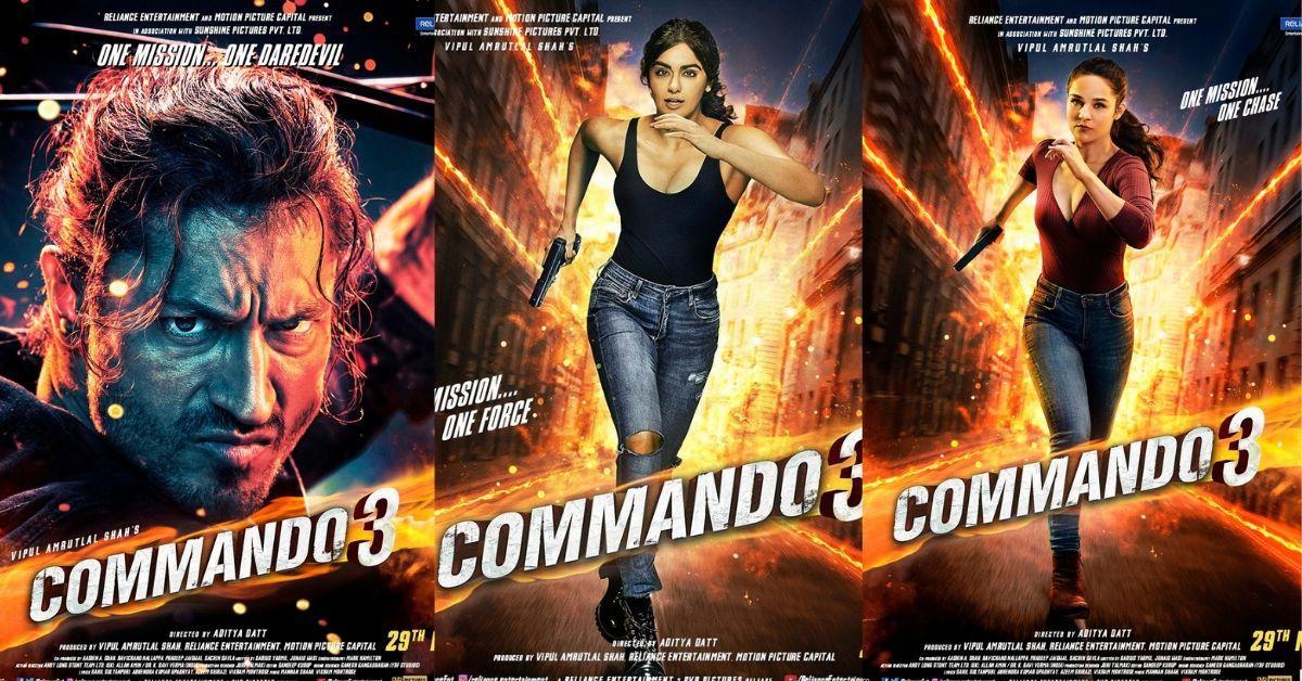 Commando 3 character posters Vidyut Jammwal, Adah Sharma