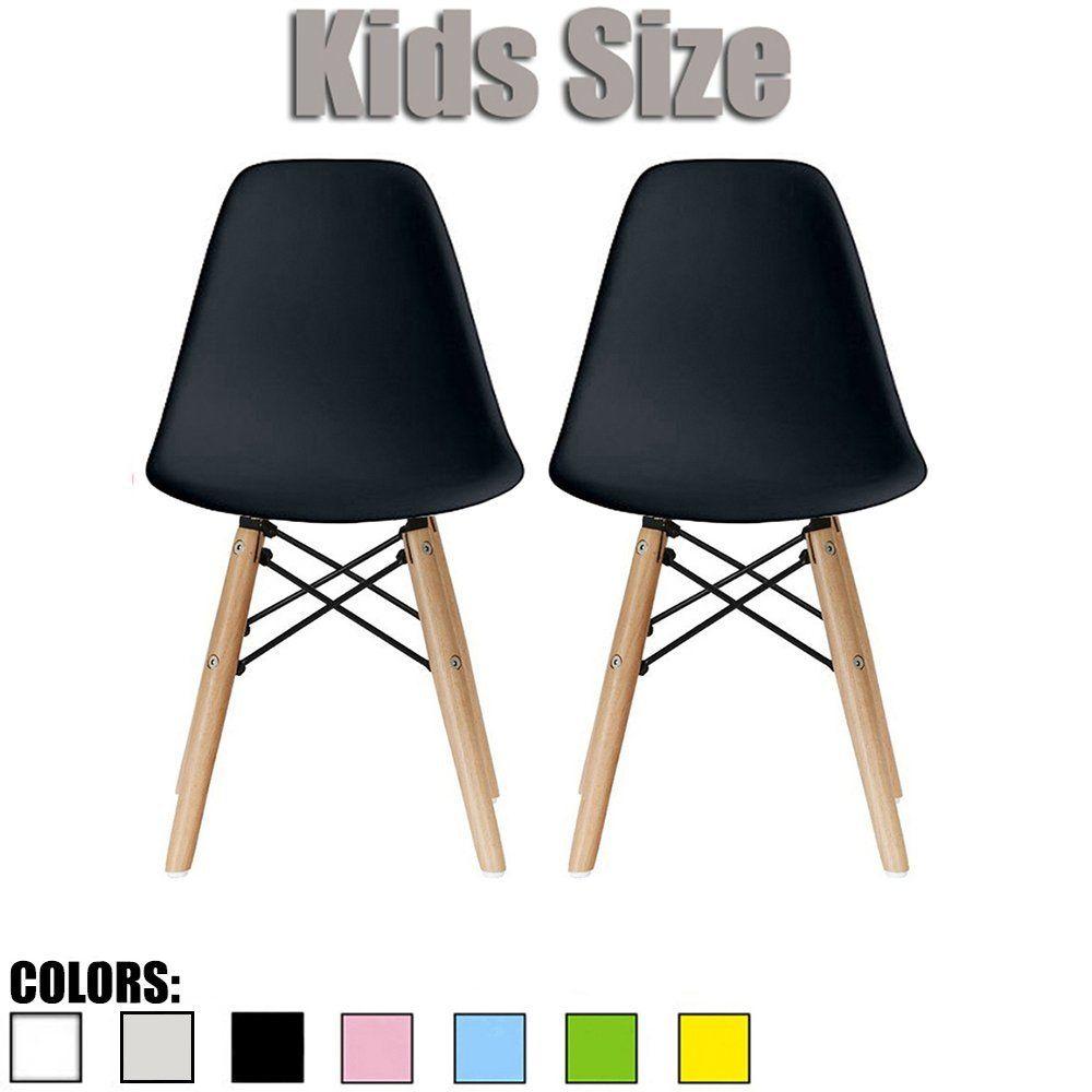 2xhome set of two 2 black kids size