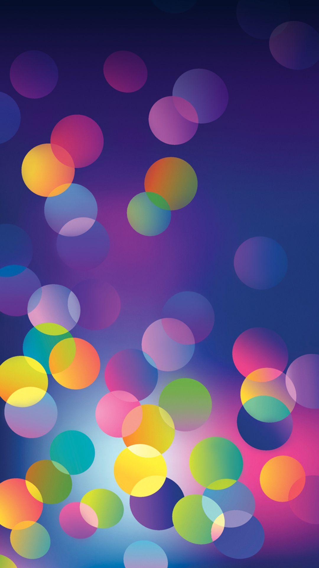 Colour Bubbles IPhone wallpapers gra nt abstract Tap