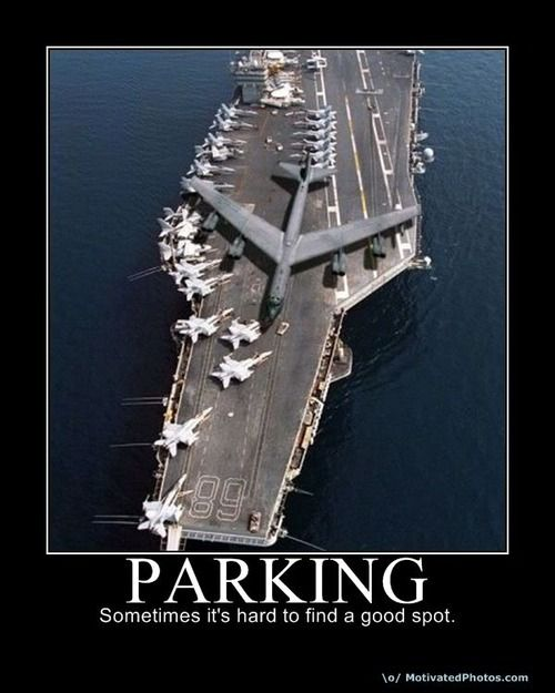 Military parking.