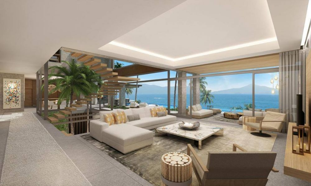 hk bbq gardens perched on a steep site overlooking castle peak bay in hong kong this multi level home cascades over 4 levels creating an - Multi Castle Interior