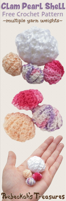Clam Pearl Shell Free Crochet Pattern By Beckastreasures Are