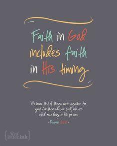 Wall Art (LifePrints) – Faith in God (grey, yellow, teal, orange, creme) Romans 8:28 – 8 x 10 Print