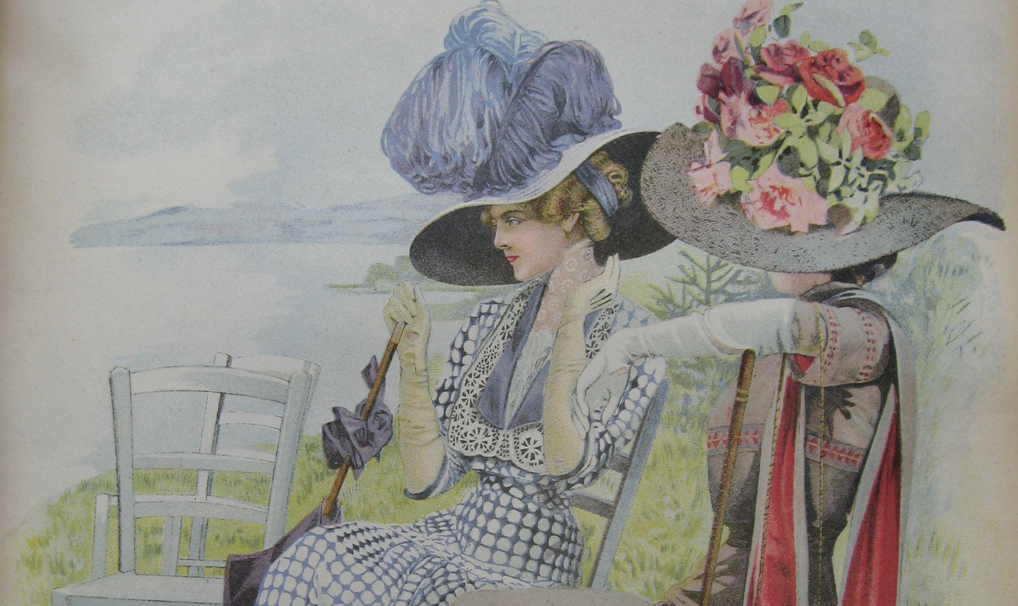 Květiny v garderóbě dámy