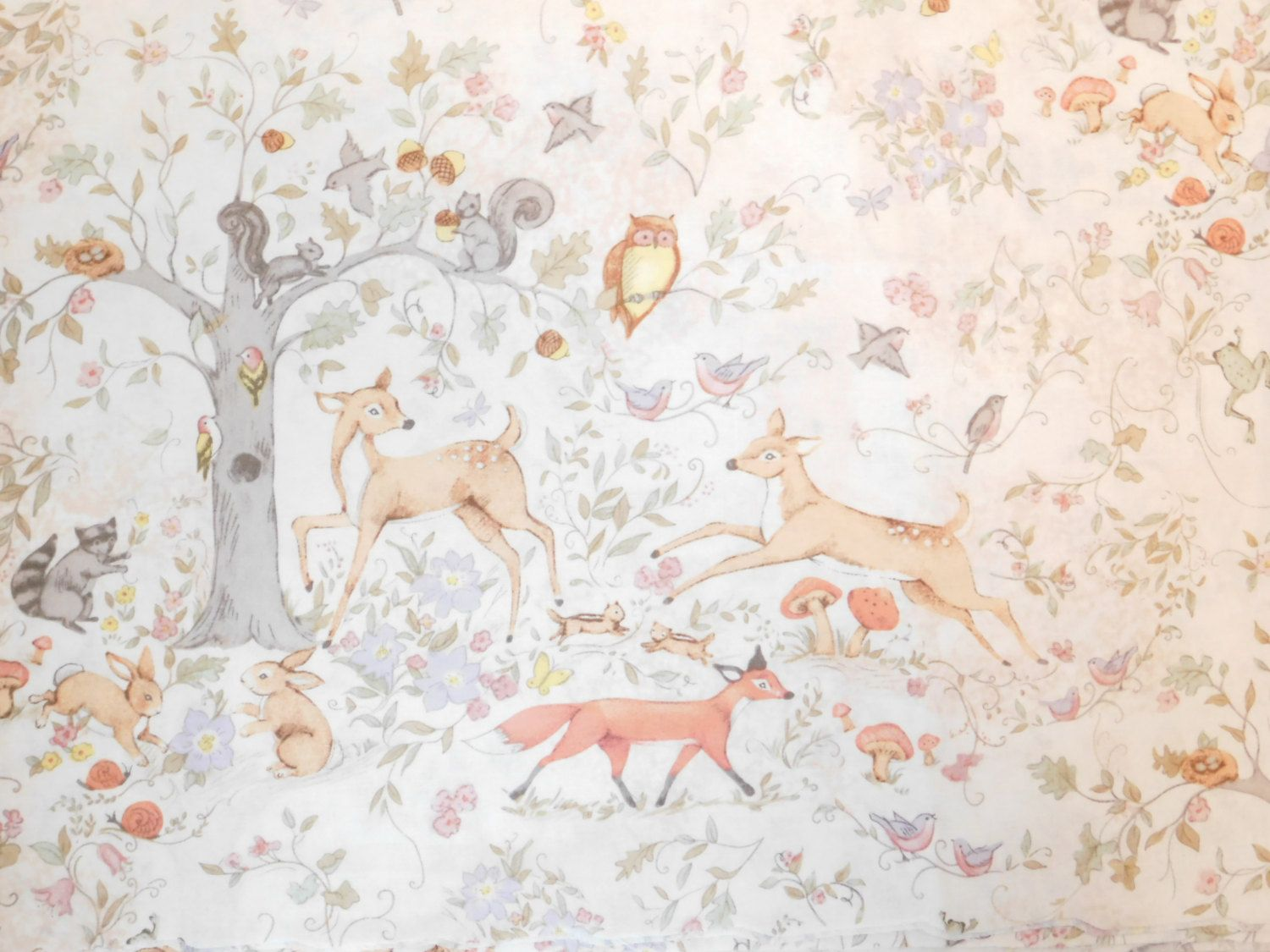 Susan Winget Fabric Deer Fabric By The Yard Woodland