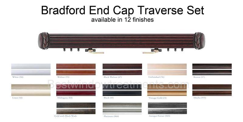 Bradford Custom Select Decorative Wood Traverse Rod Set 1 3 8