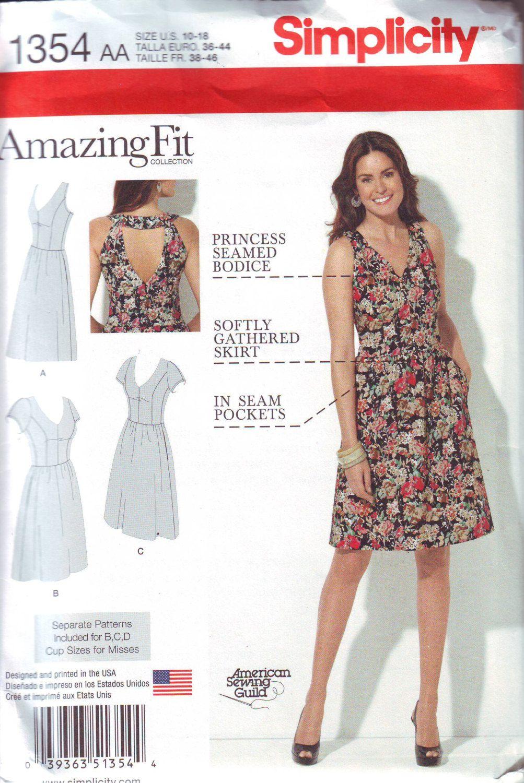 Khaliah Ali Plus Size Dress Pattern Mock Wrap Dress Pattern Fit And Flare Dress Simplicity 2981 Uncut Bus Dress Patterns Princess Seam Dress Wrap Dress Pattern [ 2131 x 1500 Pixel ]