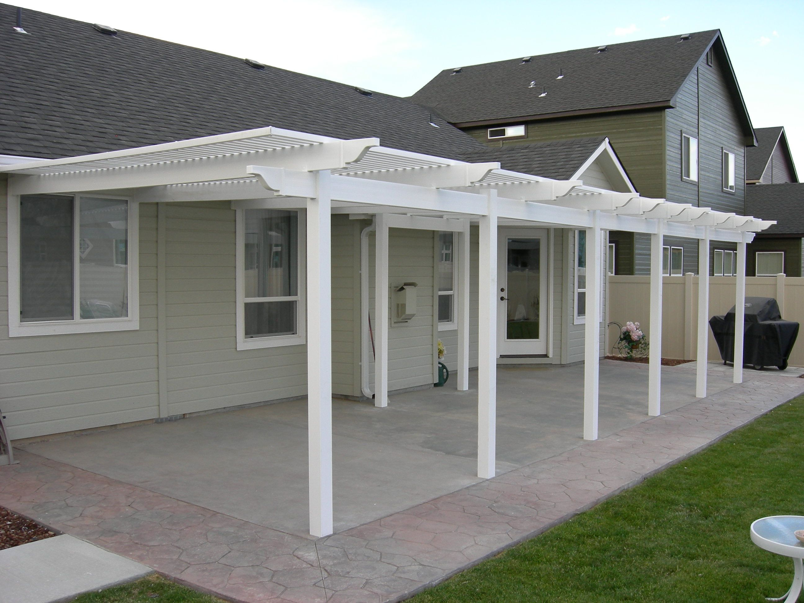 Patio pictures patio covers white ideas for the for Patio cover ideas designs
