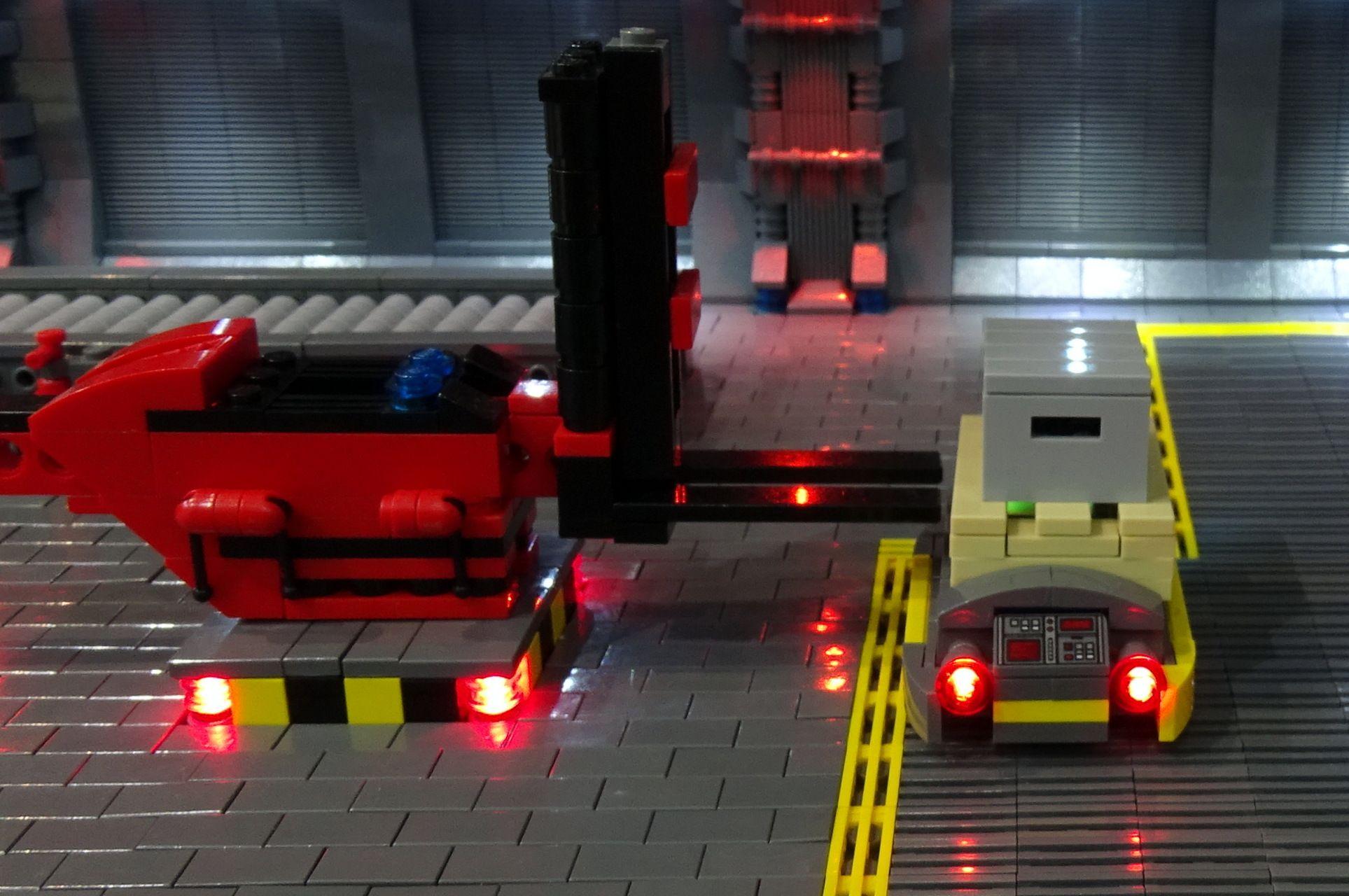 Palettenlader Lego Beleuchten Kasten