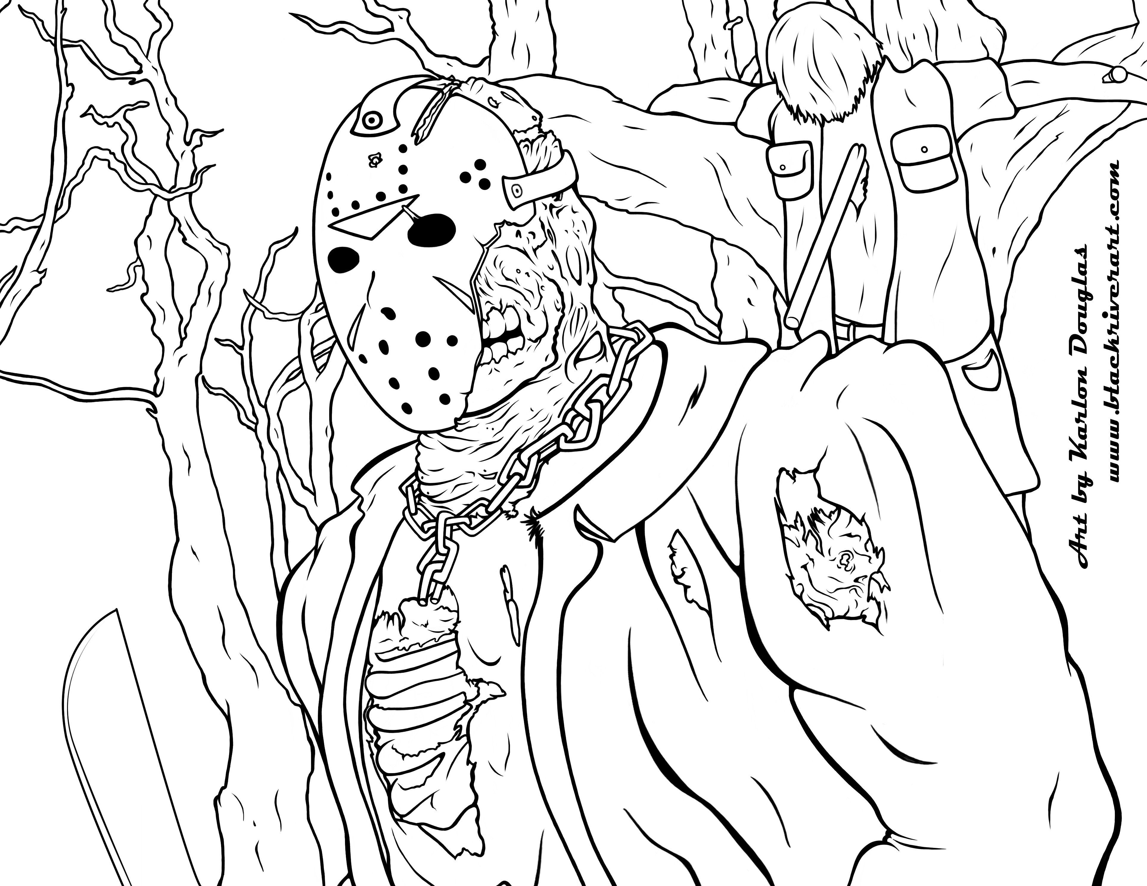 Jason Coloring Pages Free Coloring Book Pages For Adults Coloring Book Addict Coloring Book Art Coloring Books Cartoon Coloring Pages