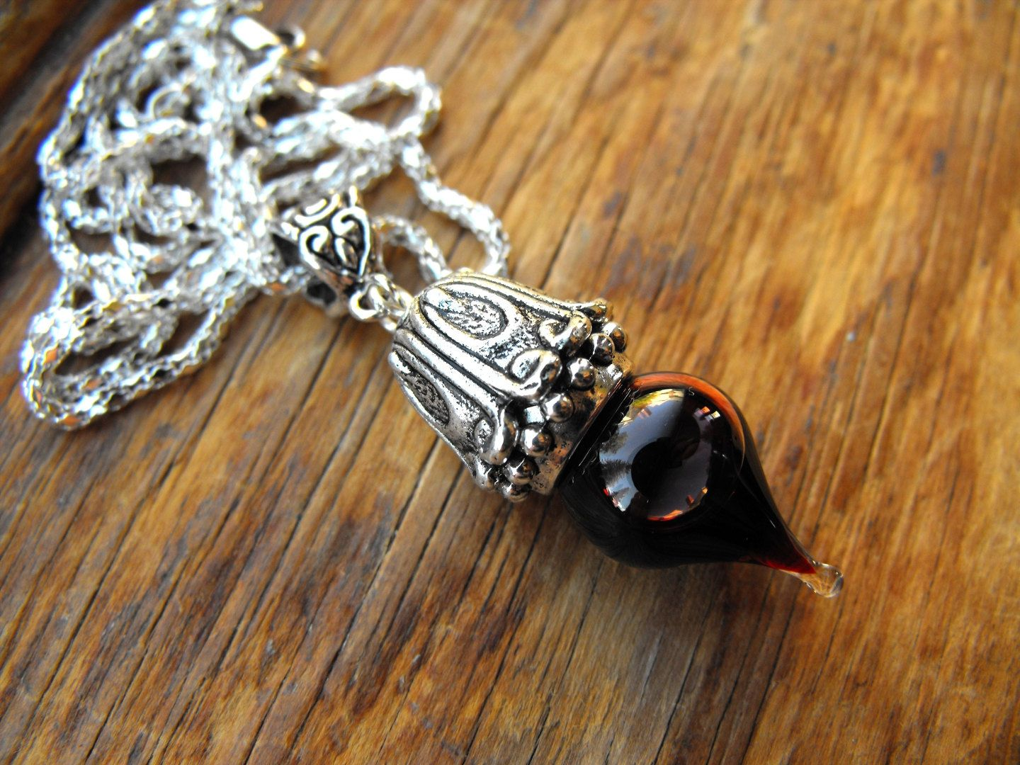 Victorian bellflower vial of blood pendant silver memento mori victorian bellflower vial of blood pendant silver memento mori vampire necklace by amanda olivo 1200 via etsy mozeypictures Image collections