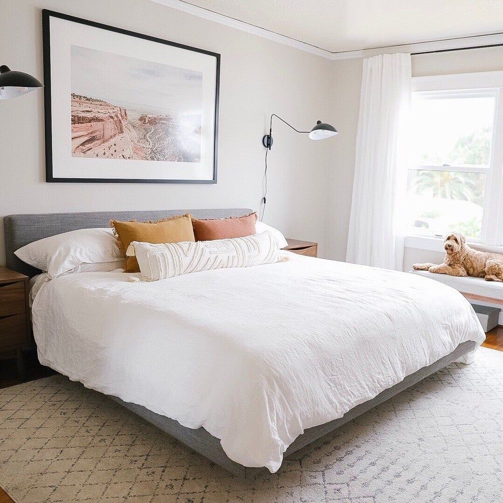 So in love with how our bedroom turned out! Did you watch our bedroom reveal yet? What do you think of how we changed up the look of our bedroom compared to our last one? . . #liveyourstyle #ambiance #homedecor #decor #decoration #accessorize #homeinspo #houseinspo #homeinterior #interiordesign #organization #interiors #organize #lifehacks #lifegoals #homegoals #photooftheday #dreamhome #designstyle #mystylishhome #interiortrends #inspire #myhousebeautiful #howyouhome #diy #hgtv #apartmentthera