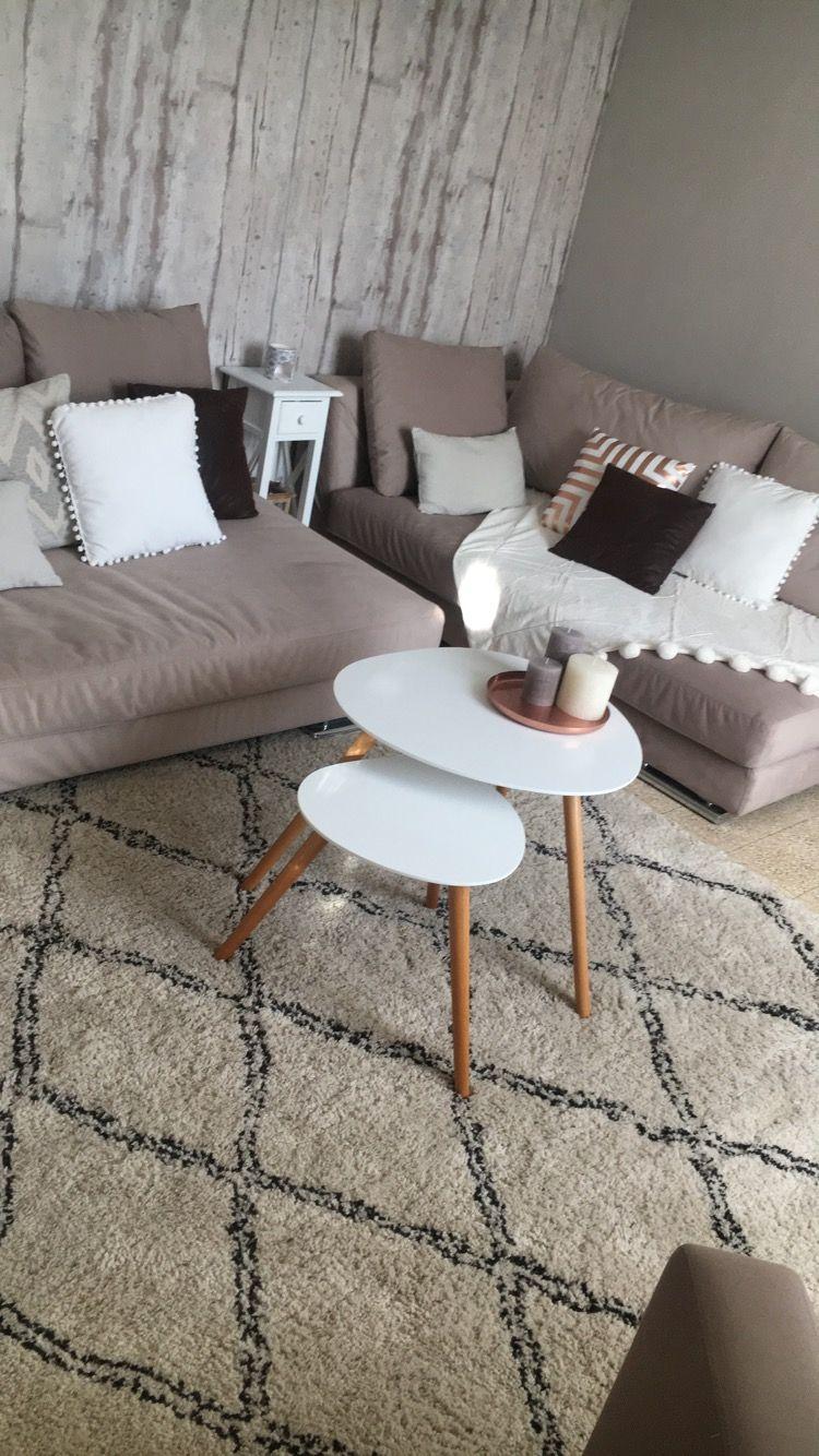 Deco Home Renovation Salon Scandinave Cocooning Tapis Berbere Enduit Peinture Papierpeint Cuivre Bougie Deco Chambre Cocooning Deco Chambre Deco