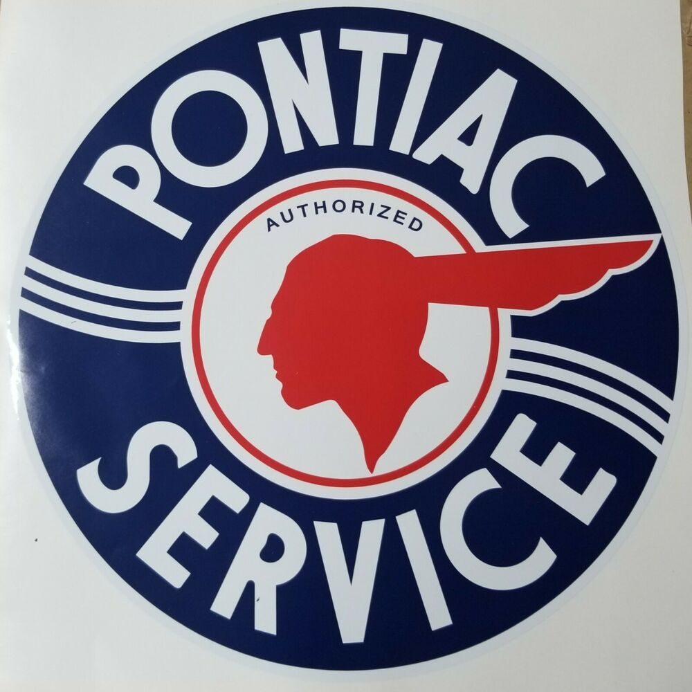 3 INCH PONTIAC SERVICE DECAL STICKER SEVERAL SIZES AVAILABLE
