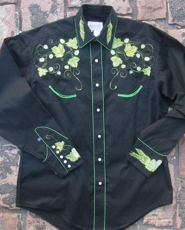 810d61fb16c Men's Vintage Western Shirt Collection: Rockmount Hops Black | Products