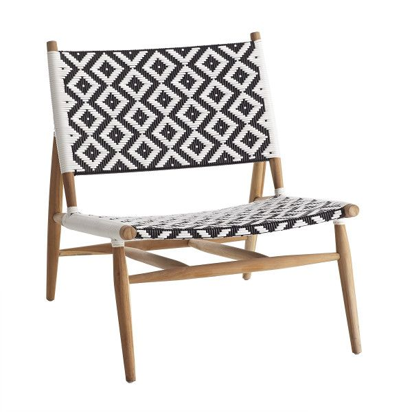 Global Style Woven Outdoor Lounger Chair