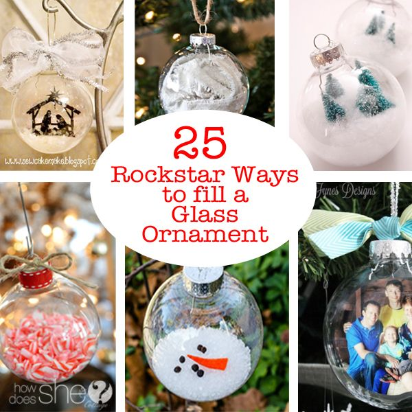 25 Rock Star Ways To Fill A Glass Ornament My Favorite Is 2