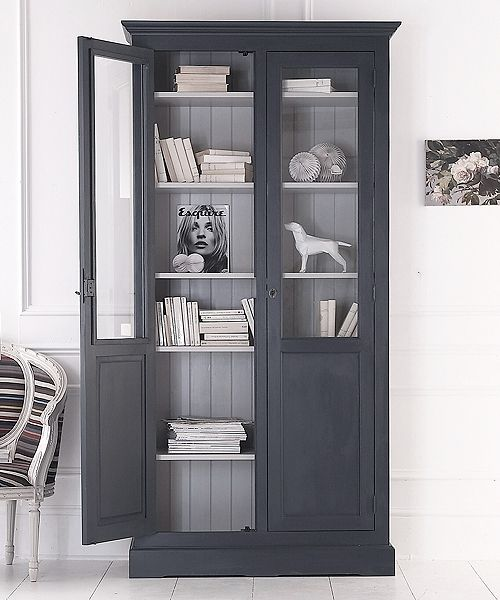 Dining Room Storage Ideas To Keep Your Scheme Clutter Free: This Classic Solid Pine Panelled-door Part-glazed Cupboard