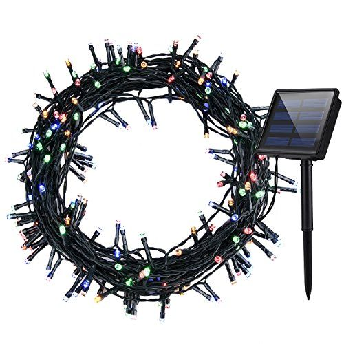 Cymas 200 LED Solar String Lights, Christmas Outdoor Light