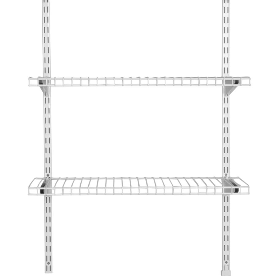 Rubbermaid Homefree White Wire Add On 2 Shelf Kit Wire Shelving