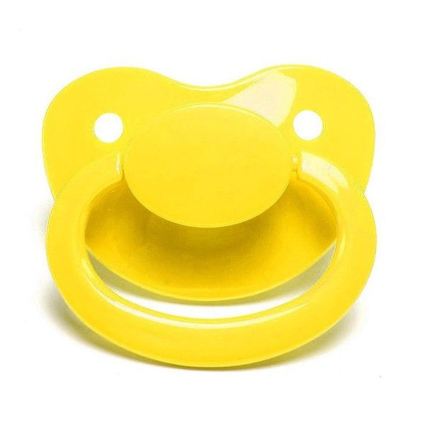 LittleForBig Adult Sized Pacifier Dummy for Adult Baby BigShield Yellow
