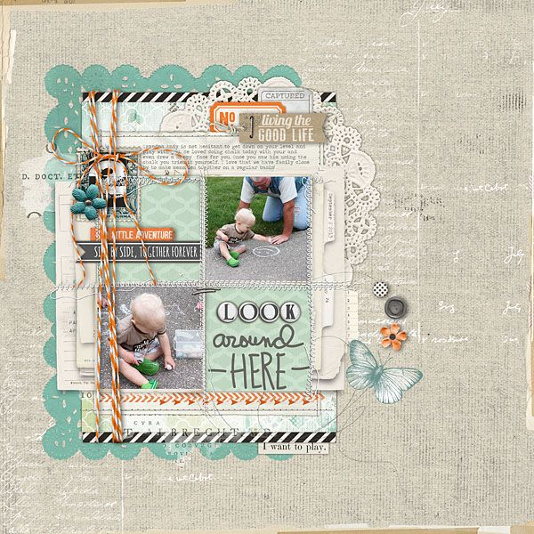 Sept213_LookAroundHere #collage #layers #scrapbook #kids #family #memories #digital #designerdigitals