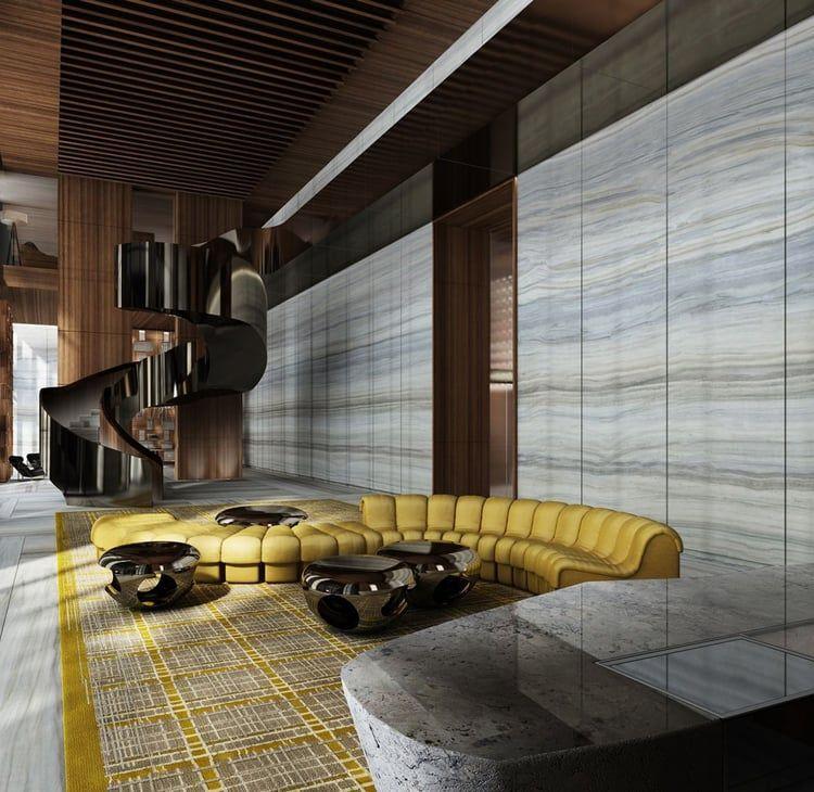 Biscayne Beauty Yabu Pushelberg Designs Miamis Brickell House PushelbergInterior Design BlogsHotel