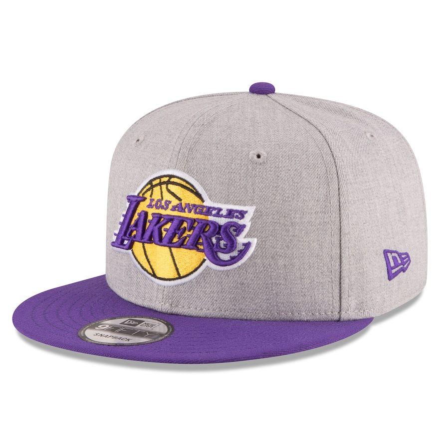 94a7fd43958 Adult New Era Los Angeles Lakers 9FIFTY Adjustable Cap
