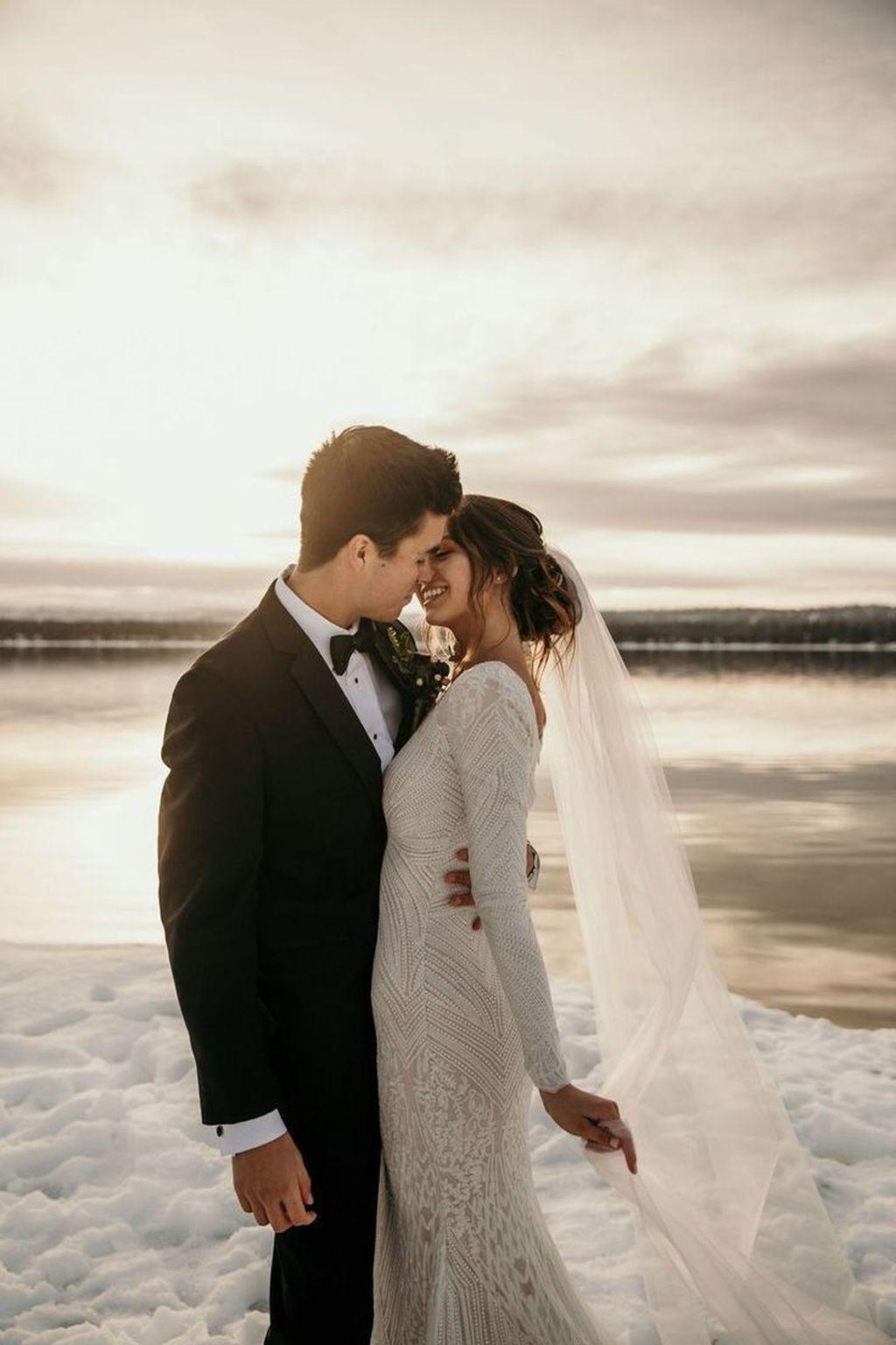 40 Die besten Winter-Hochzeitskleid-Ideen für Ihren schönen Moment