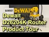 The Dewalt D26204K router is the top of a range of 3 small routers from Dewalt. The D26200 is the basic machine with a fixed base whilst the D26203 comes