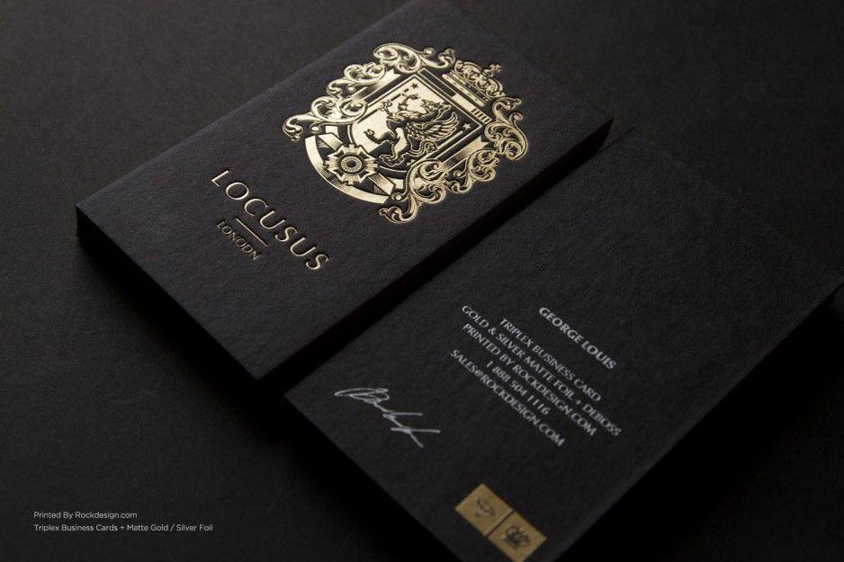 Luxury black business card design idea with gold motive and white luxury black business card design idea with gold motive and white letters colourmoves