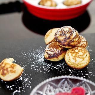 """Traditional Danish """"Æbleskiver"""" for Christmas hygge, so tasty and easy. Recipes on traditional and gluten-free versions on madforlivet.com today #Christmasishere #æbleskiver #hygge #glutenfree #tryit #easyandtasty #organickitchen #foodphotographer #babyitscoldoutside #hyggerecipes"""