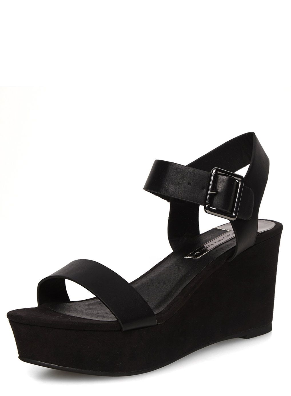 2b59969984f Black flatform wedge sandals