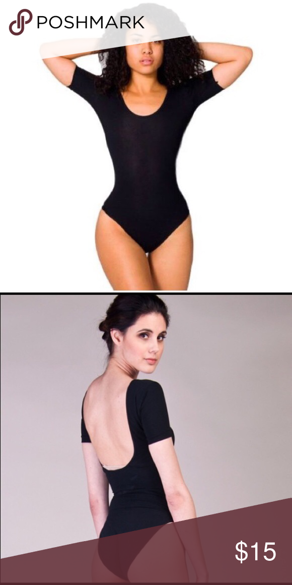 Black American apparel leotard Worn once. Black leotard with full butt  coverage. Has a 947bc5b29