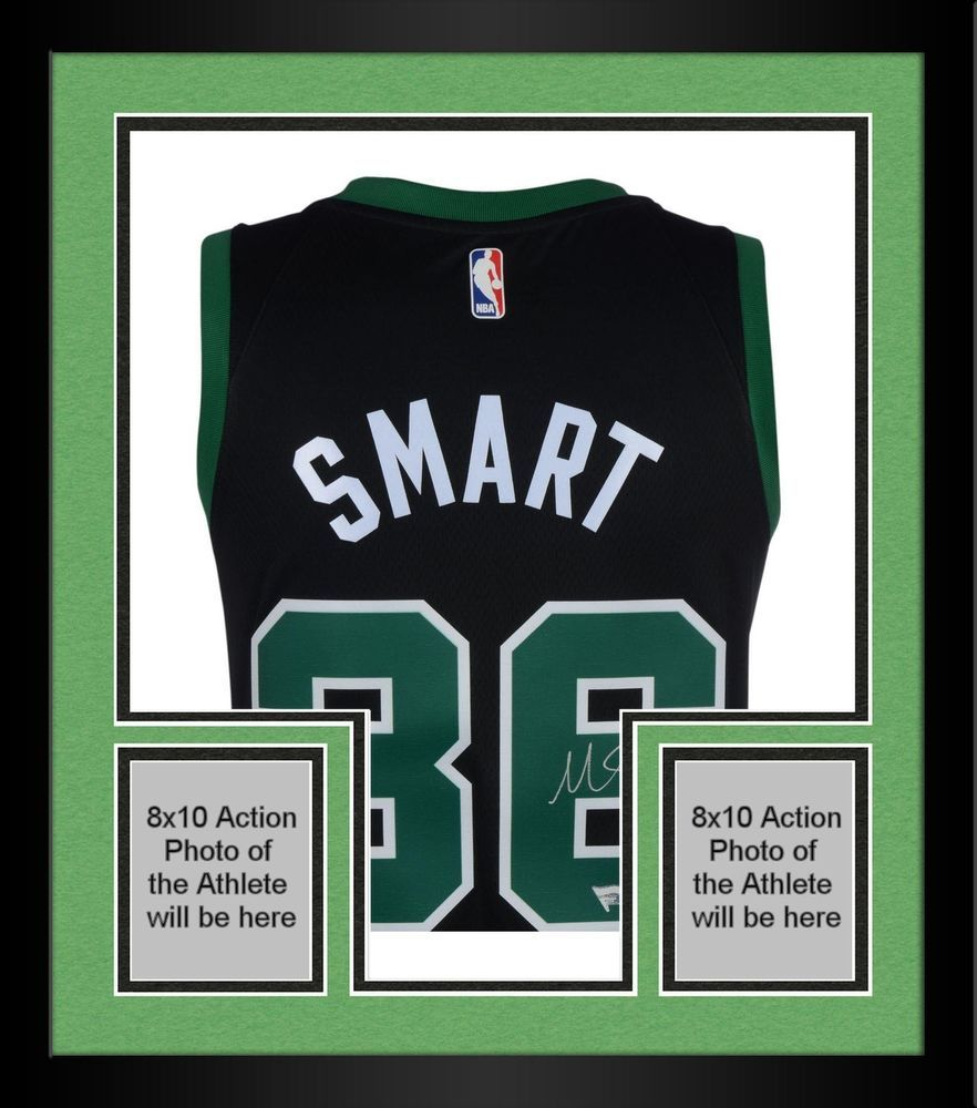 cheap for discount b5e44 cab1f Framed Marcus Smart Boston Celtics Autographed Black Nike ...