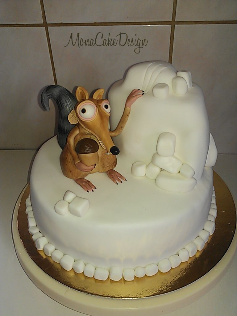 ice age scrat cake  cake