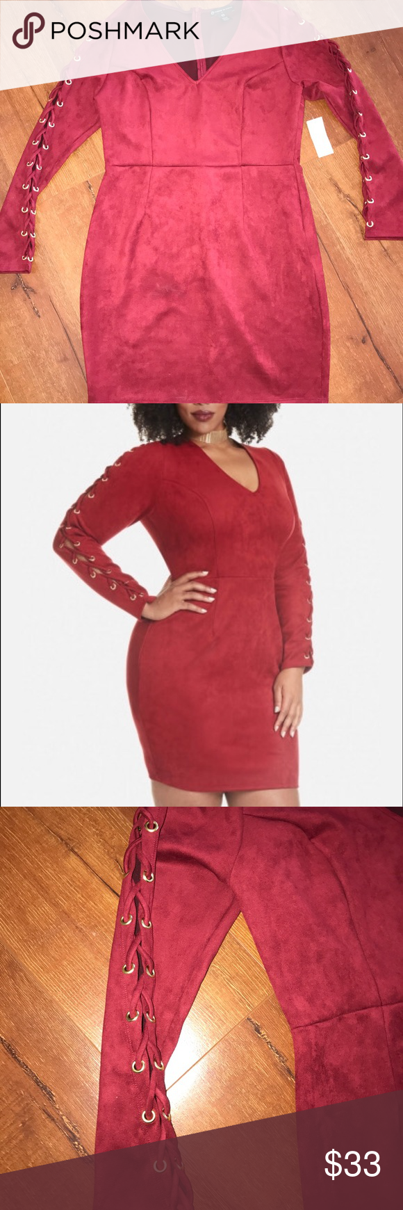 Lace dress torrid  Plus size Suede Laceup Dress  Torrid Arms and Minis