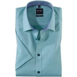 Photo of Olymp Level Five half sleeve shirt, body fit, New York Kent, green, 41 Olymp