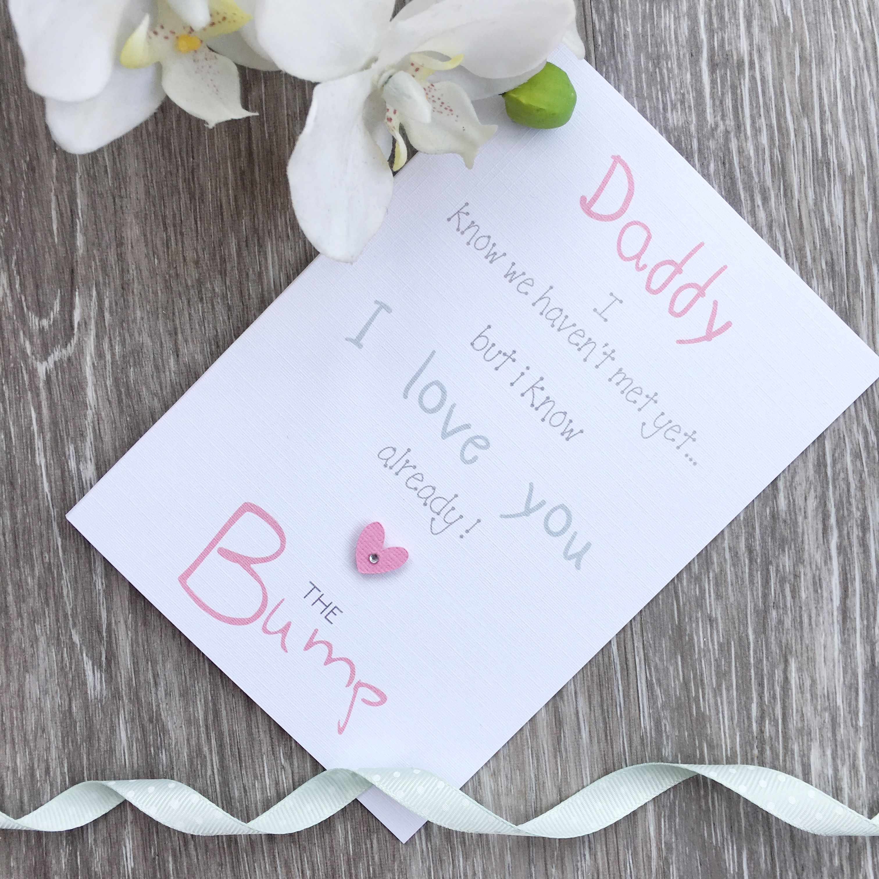Personalised Daddy To Be Father S Day Card Daddy From Bump Daddy