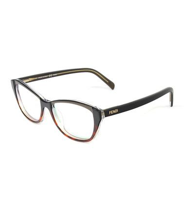 855133855d1 Take a look at this Fendi Havana Musk Cat-Eye Eyeglasses on zulily today!