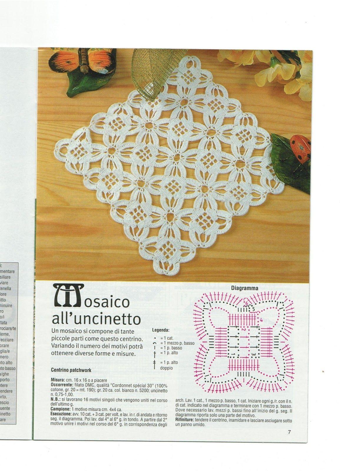 Da Un Giornale Diana Centrini 6 Manualidades Carpetas Crochet Caminos De Mesa Crochet