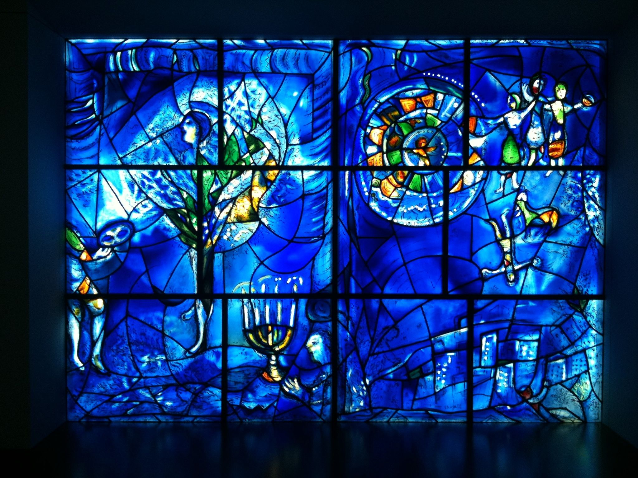 A panel of chagall 39 s america window chicago art for Art glass windows