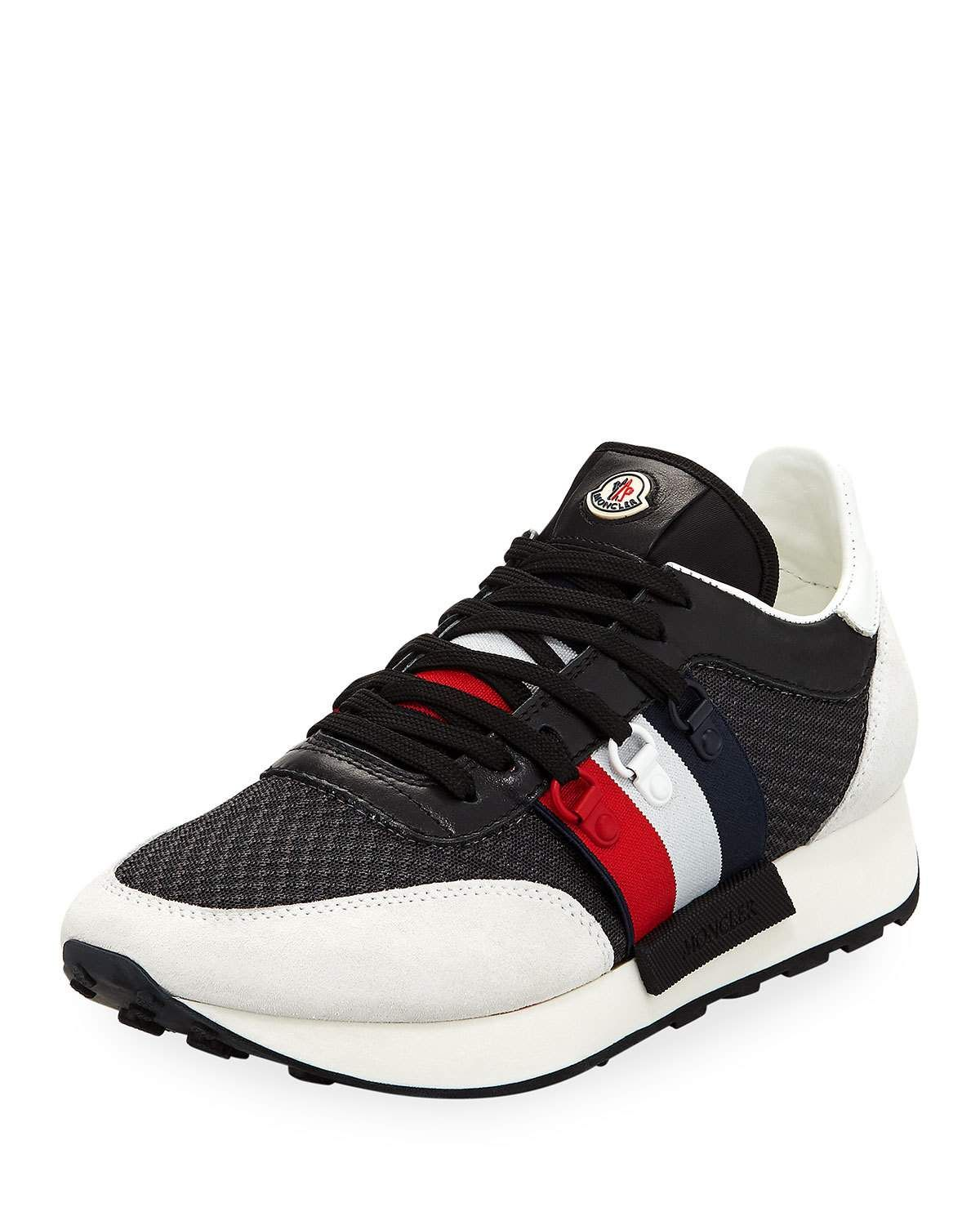 381a39c72 MONCLER NEW HORACE LEATHER   NYLON TRAINER SNEAKER.  moncler  shoes ...