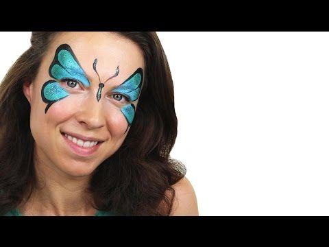 Beginners Butterfly Face Paint Tutorial   Snazaroo - YouTube